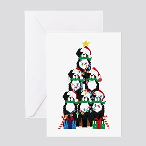 Bernese Mt Dog Xmas Tree Greeting Cards