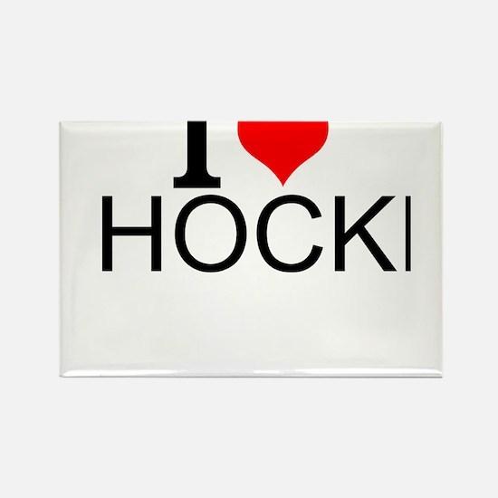 I Love Hockey Magnets