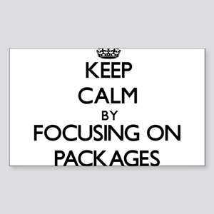 Keep Calm by focusing on Packages Sticker