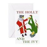 The Holly and the Ivy Yule Cards (Six)