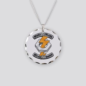 Nuts Volts Necklace Circle Charm