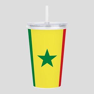 Senegal Flag Acrylic Double-wall Tumbler