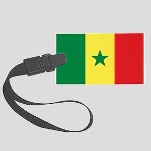 Senegal Flag Large Luggage Tag