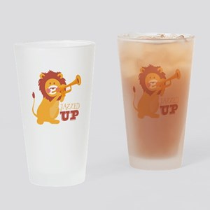 Jazzed Up Drinking Glass