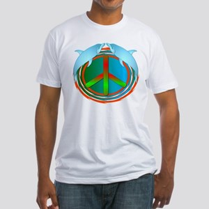 Dolphin Peace Fitted T-Shirt
