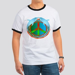 Dolphin Peace Ringer T
