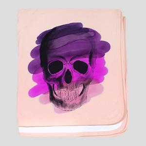 Purple Skull baby blanket
