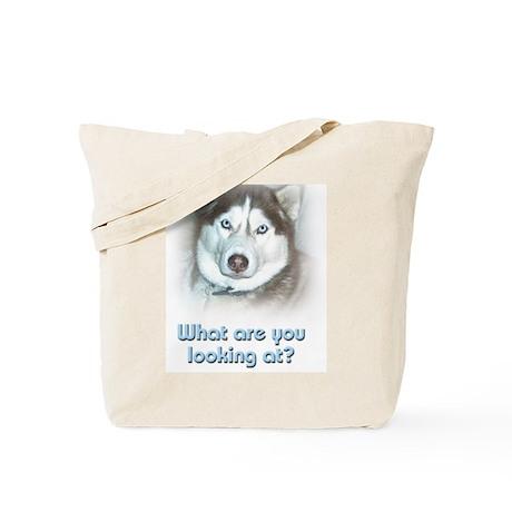 Looking at Husky Tote Bag