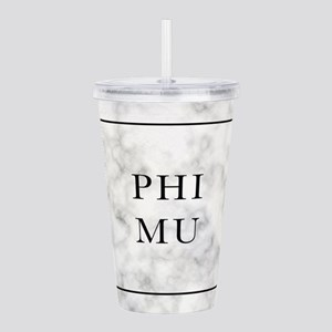 Phi Mu Marble Acrylic Double-wall Tumbler