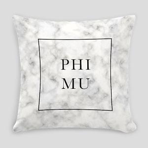 Phi Mu Marble Everyday Pillow