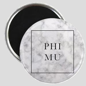Phi Mu Marble Magnet