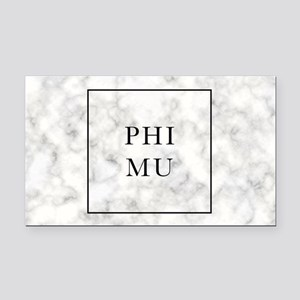 Phi Mu Marble Rectangle Car Magnet