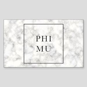 Phi Mu Marble Sticker (Rectangle)