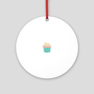 Cupcake Ornament (Round)