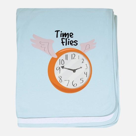 Time Flies baby blanket
