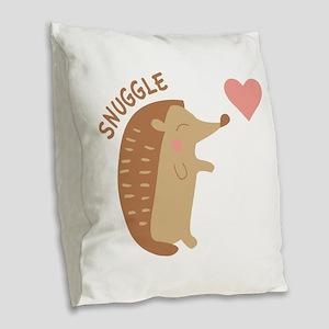 Snuggle Burlap Throw Pillow