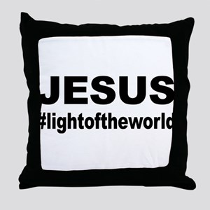 Jesus #lightoftheworld Throw Pillow