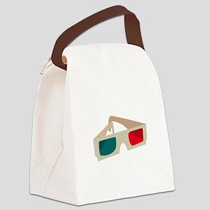 3D Glasses Canvas Lunch Bag