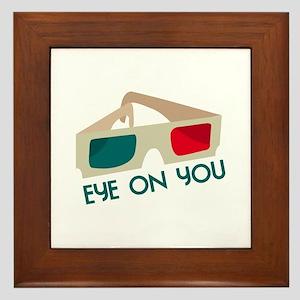 Eye On You Framed Tile