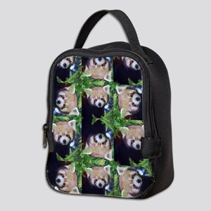Red Panda Neoprene Lunch Bag