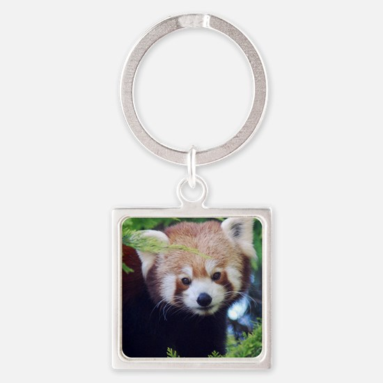 Red Panda Square Keychain