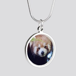 Red Panda Silver Round Necklace