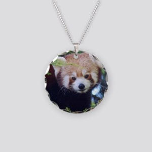 Red Panda Necklace Circle Charm