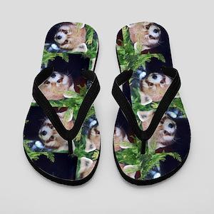 Red Panda Flip Flops
