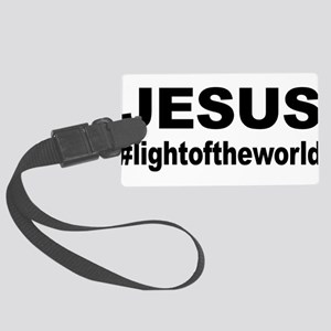 Jesus #lightoftheworld Large Luggage Tag