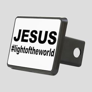 Jesus #lightoftheworld Rectangular Hitch Cover