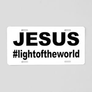 Jesus #lightoftheworld Aluminum License Plate