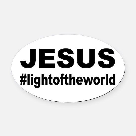 Jesus #lightoftheworld Oval Car Magnet