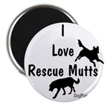 """I Love Rescue Mutts 2.25"""" Magnet (100 pack)"""