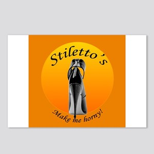 Stiletto's make me horny Postcards (Package of 8)