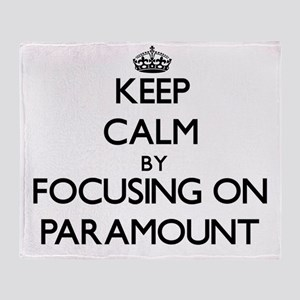 Keep Calm by focusing on Paramount Throw Blanket