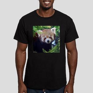 Red Panda Men's Fitted T-Shirt (dark)