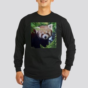 Red Panda Long Sleeve Dark T-Shirt
