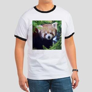 Red Panda Ringer T