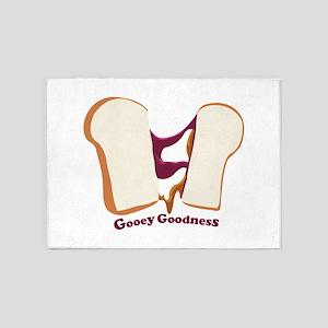 Gooey Goodness 5'x7'Area Rug