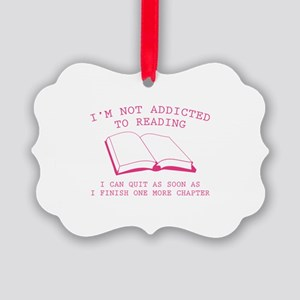 I'm Not Addicted To Reading Picture Ornament