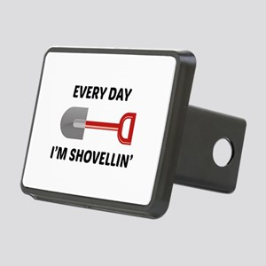 Every Day I'm Shovellin' Rectangular Hitch Cover