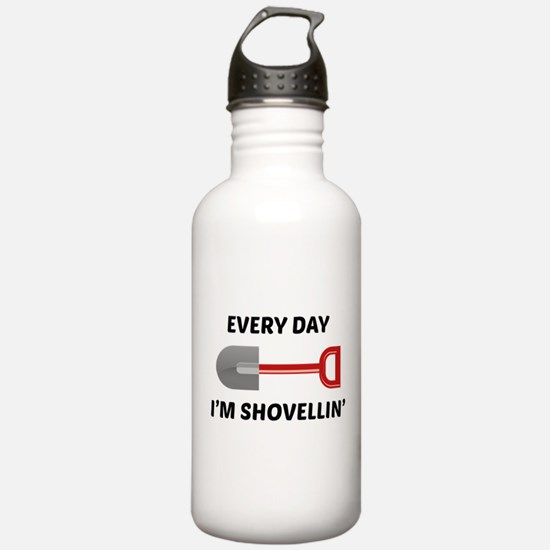 Every Day I'm Shovellin' Water Bottle