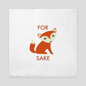For Fox Sake Queen Duvet