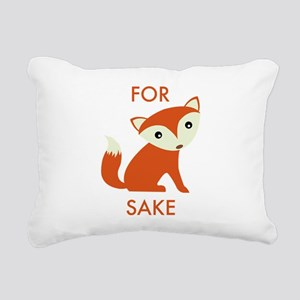 For Fox Sake Rectangular Canvas Pillow