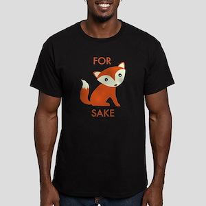For Fox Sake Men's Fitted T-Shirt (dark)