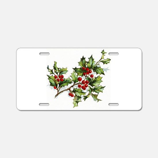 Holly Berries 001 Aluminum License Plate