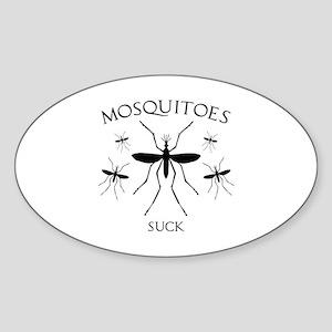 Mosquitoes Suck Sticker (Oval)