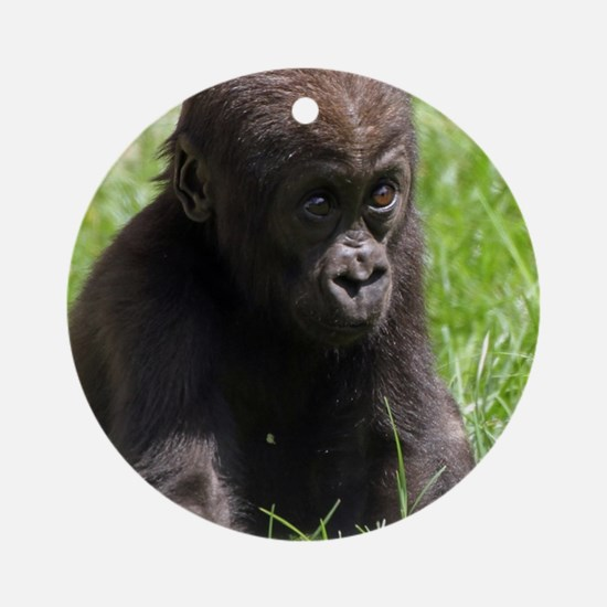 Gorilla-Baby002 Ornament (Round)
