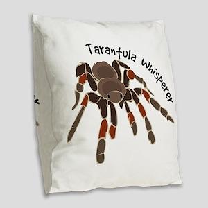 Tarantula Whisperer Burlap Throw Pillow