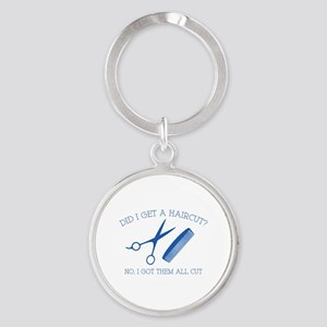 Did I Get A Haircut? Round Keychain